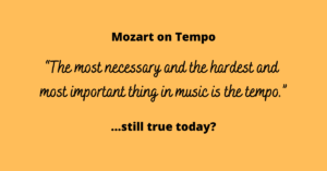 Mozart on Tempo
