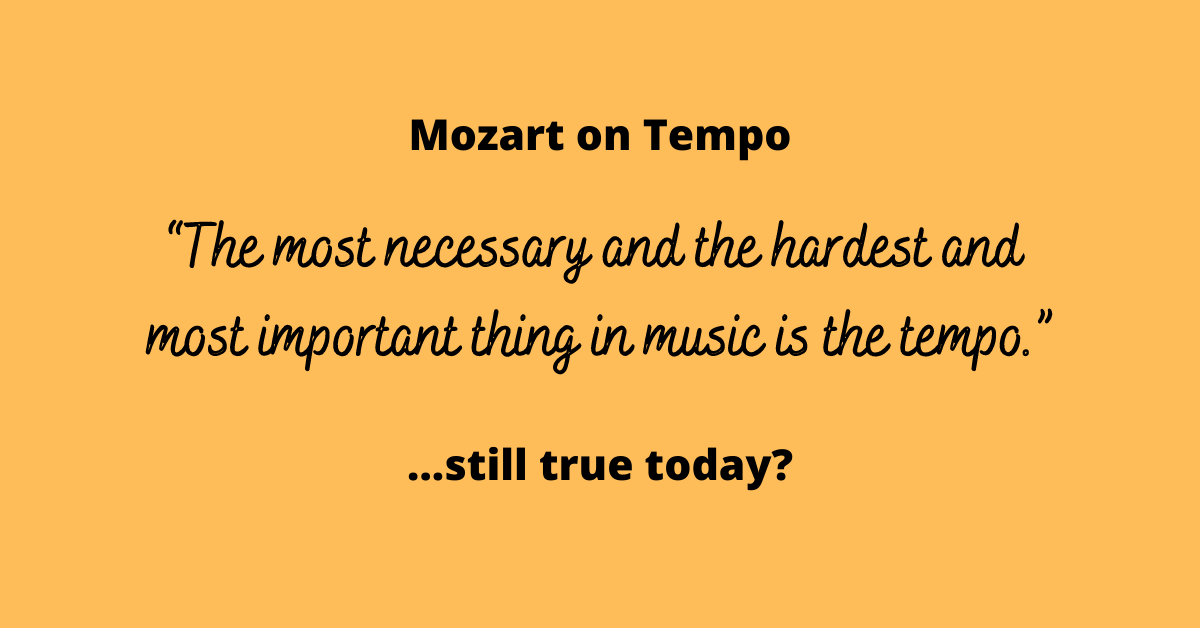 Read more about the article Mozart on Tempo