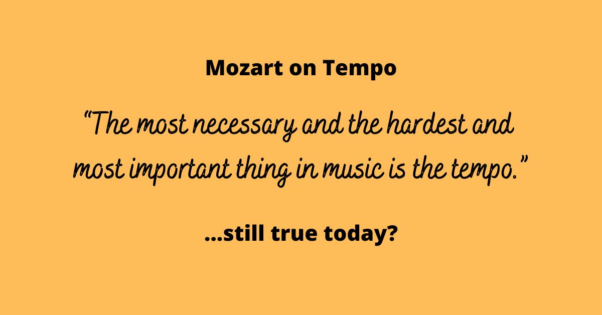 Mozart on Tempo
