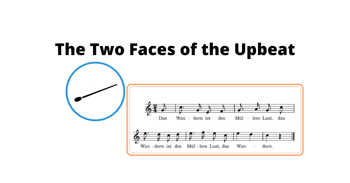 The Two Faces of the Upbeat