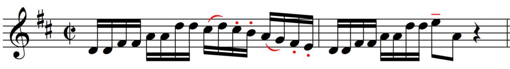 Bach Brandenburg Concerto 5 Beginning with possible Articulation