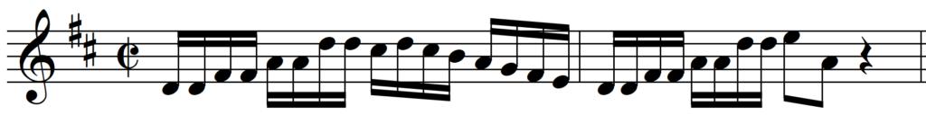 Bach Brandenburg Concerto 5 without Articulation