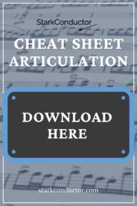 Articulation Music Cheat Sheet Cover
