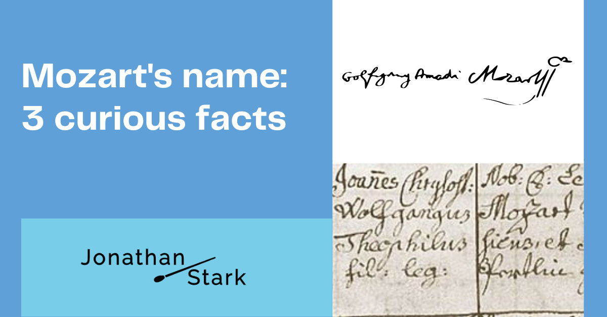 Read more about the article Mozart's name: 3 curious facts