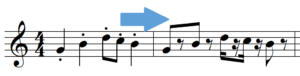 score example with rests instead of staccato