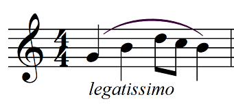articulation music legatissimo example