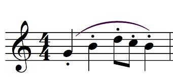 articulation music portato example
