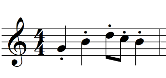 articulation music staccato example
