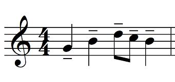 articulation music tenuto example
